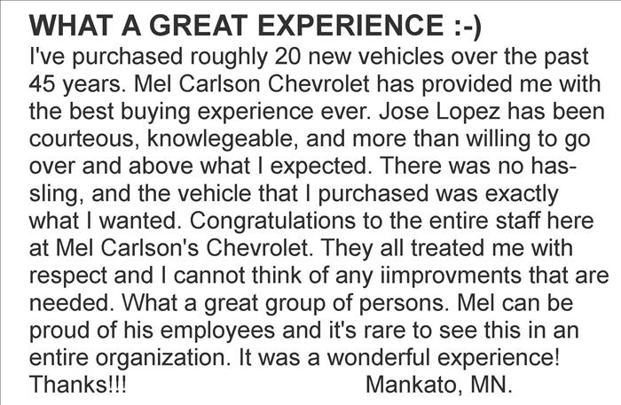 Banner for Mel Carlson Chevrolet